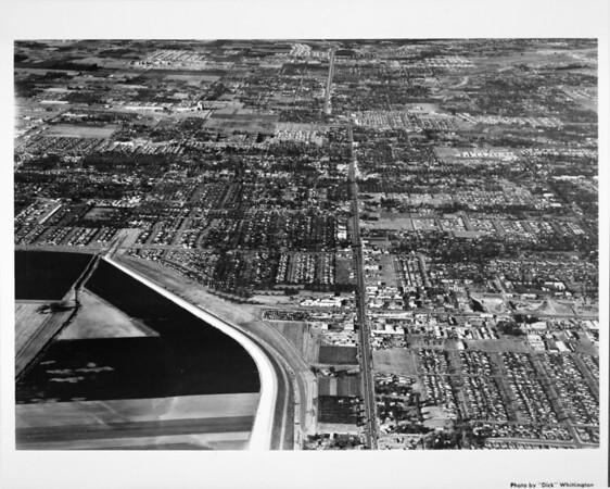 Aerial view of North Sepulveda Boulevard at about Ventura Boulevard