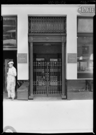 Exteriors, Main Street & Commercial Street, Pacific-Southwest Trust & Savings Bank, Los Angeles, CA, 1926