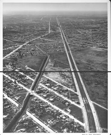 Aerial view of Venice Boulevard, Culver City