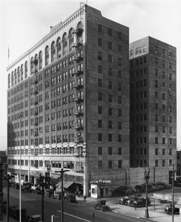 The Western Pacific Building at the southwest corner of Olympic Boulevard and Broadway