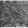 Aerial view, Downtown Los Angeles, Junction of Harbor Freeway and Hollywood Freeway, Cesar Chavez Boulevard