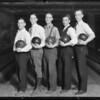 Bowlers at Bimini Alleys, Southern California, 1930