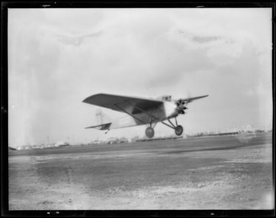 Ship W air at Long Beach, CA, 1929