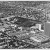 Aerial view facing northwest over Wilshire Boulevard and Curson Avenue