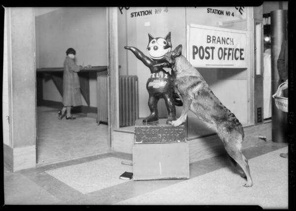 Felix & dog, Southern California, 1926