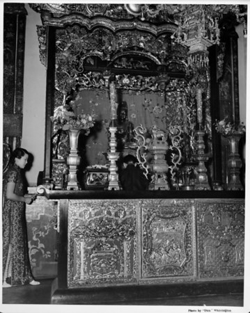 Altar within a Temple, (Buddist Shrine) Chinatown