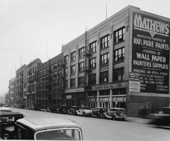 Los Angeles Street, west side south of Second Street