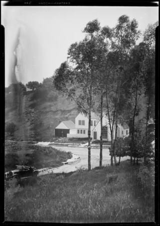 Shots among oak trees over Cahuenga Pass, 3305 Cahuenga Avenue, Los Angeles, CA, 1927
