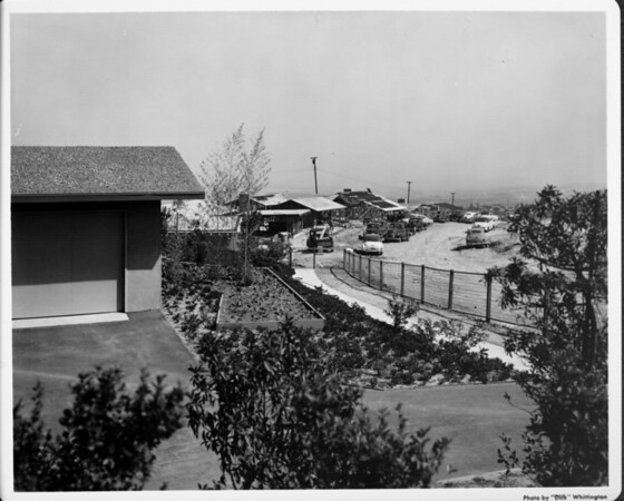 Residential area under construction on a hilltop