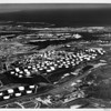 Aerial view facing southeast overlooking Gaffey Street, West Basin, Smith's Island, Mormon Island, Cerritos Channel, Terminal Island