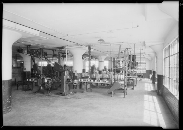 Interior of plant, Los Angeles, CA, 1931