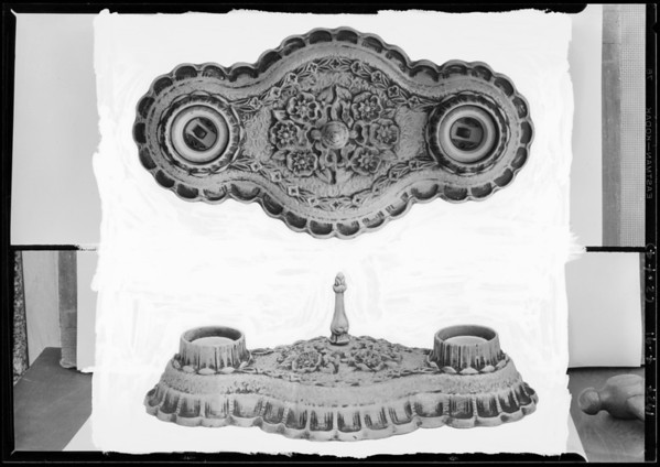 Light fixtures, Economy Pattern Co, Southern California, 1927