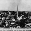 Looking East from Hill Street at Second Street in Downtown Los Angeles, after 1876