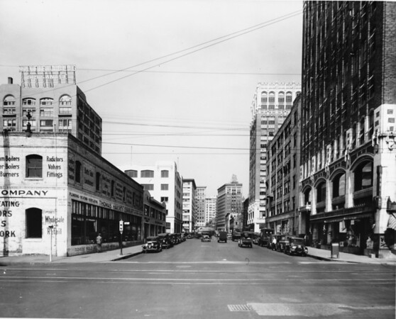 Looking down Eighth Street from Maple Avenue