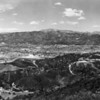 Looking across the San Fernando Valley toward the Verdugo Mountains