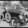 Paul Whiteman's manager & car, Southern California, 1929