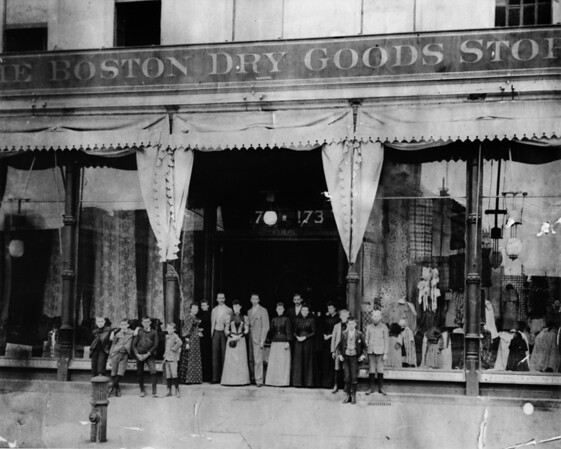 Old J.W. Robinson Company store on Broadway Street in Downtown Los Angeles