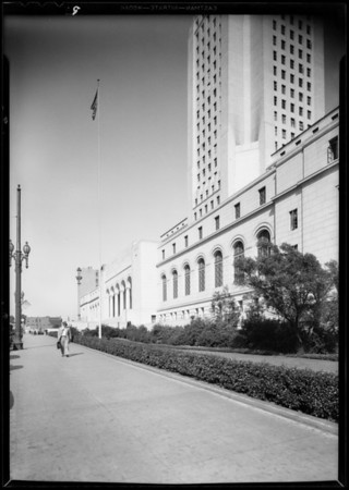 Flag poles, guard rails, etc., Southern California, 1931