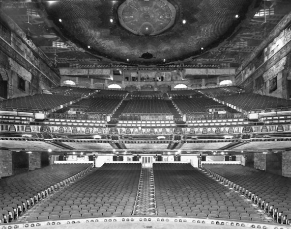 Inside seating of the Paramount Theatre in Downtown Los Angeles on Sixth Street