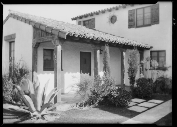 Homes built by Mr. Roberts, Southern California, 1930