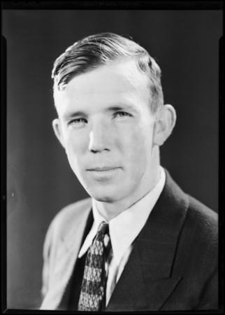 Portrait of former student Robert Englebeck, National Automotive School, Southern California, 1930