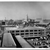 View of Los Angeles City Hall and the Civic Center from the roof of a building
