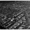 Aerial view facing northwest over San Vicente Avenue. Beverly Hills