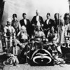Shriner's -- formal photograph of Shriners in full dress possibly taken around the time of the 1907 parade in Los Angeles