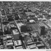 Koreatown, Ambassador Hotel, Wilshire Boulevard, Texaco Building, Kenmore Street, Catalina Street, (aerial view facing south)