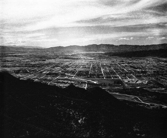 Aerial view of Los Angeles basin