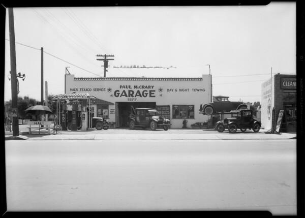 Photo of garage, Southern California, 1932