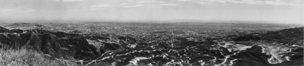 A view of the Hollywood skyline from the mountains