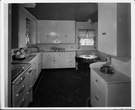 Residential interior of 1948, kitchen interior