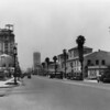 Facing east on Wilshire Boulevard from Serrano Avenue