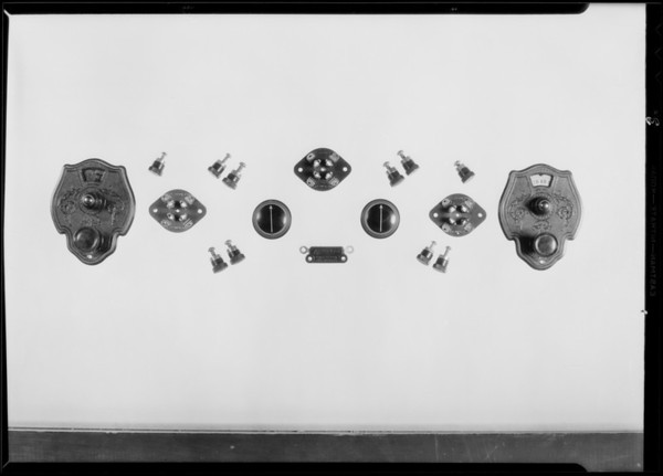 Radio parts and panel, National Auto School, Southern California, 1930