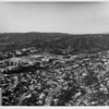 Aerial view facing north over Westwood and University of California at Los Angeles (UCLA)