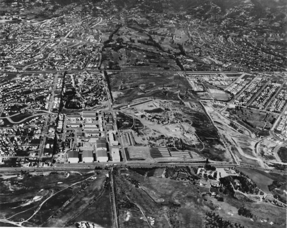 Aerial photo of 20th Century Fox studios