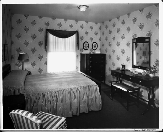 Bedroom interior of 1948, furnished by Bullock's