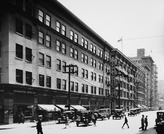 Los Angeles Street, south from Seventh Street, Summers Manufacturing Company, Smith-Riddick Company, M.J. Connell Building