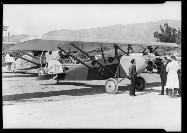 Shots at Grand Central Airport opening, Glendale, CA, 1929