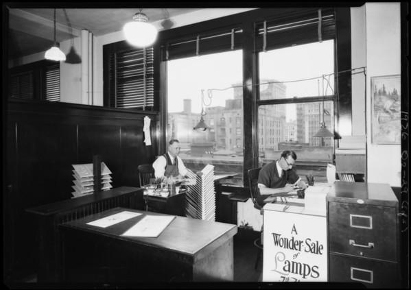 Sign shop, Southern California, 1926