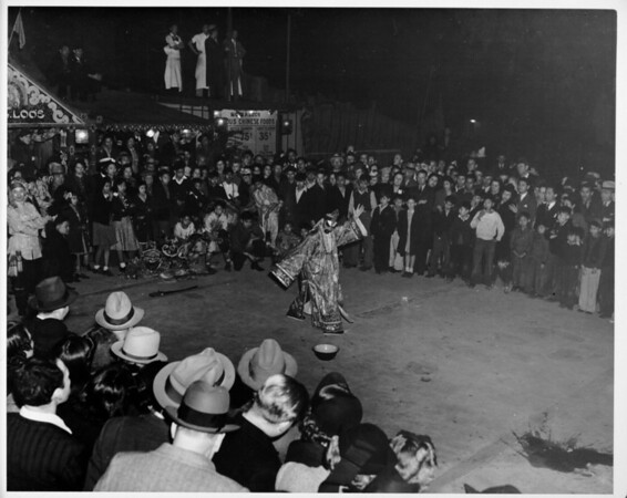 Chinatown, Chinese New Year in 1948, festivals in Chinatown, China City in 1948