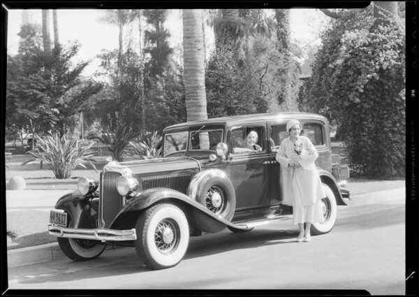 Chrysler sedan, McDonald Dodson, Southern California, 1932