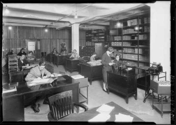 General offices, Bankers Equipment, Southern California, 1927