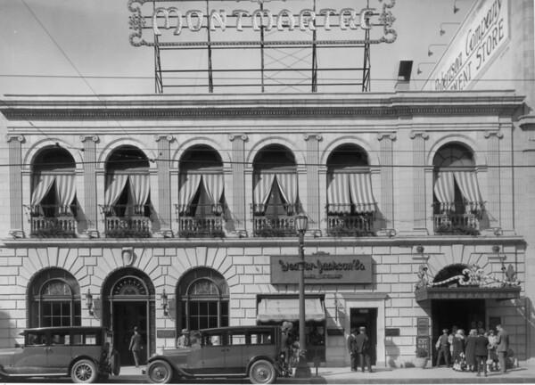 A facade of the Montmartre Restaurant