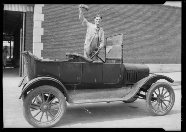 Model T at L.A. Creamery, Southern California, 1926
