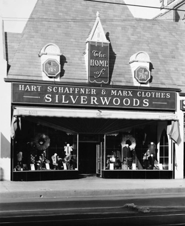 Silverwoods Department Store of Hollywood featuring Hart Schaffner & Marx Clothes