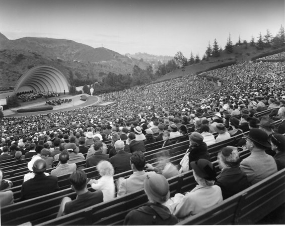 The audience's view of a Hollywood Bowl concert