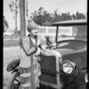 Chevrolet with dog on radiation cap, Southern California, 1926