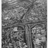 Aerial view of I-110 and I-101 freeway interchange, Dodger stadium